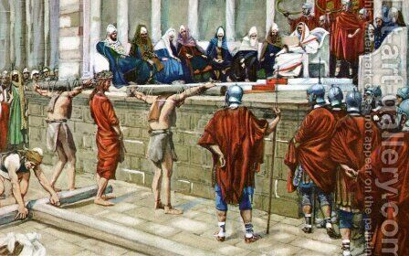 Shall I crucify by James Jacques Joseph Tissot - Reproduction Oil Painting
