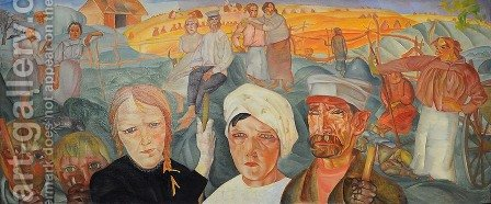 The People's Land by Boris Dmitrievich Grigoriev - Reproduction Oil Painting