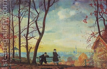 Autumn 7 by Boris Kustodiev - Reproduction Oil Painting