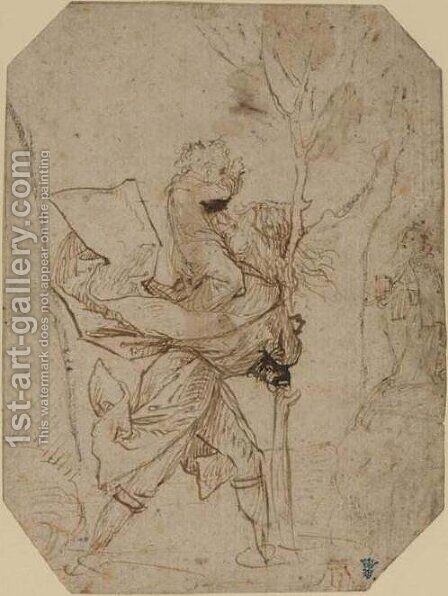 Saint Christopher by Hieronymous Bosch - Reproduction Oil Painting