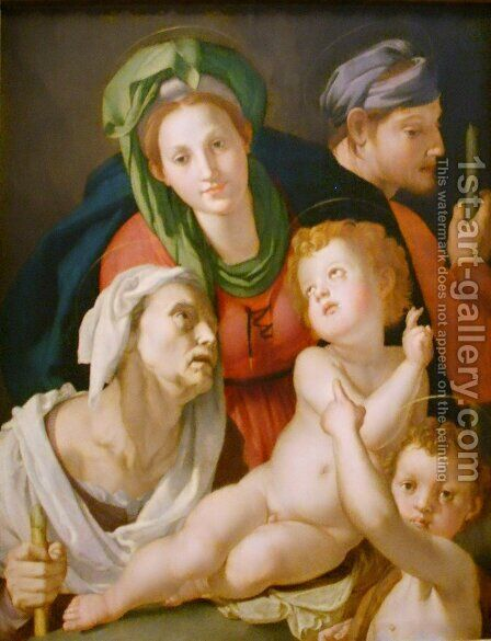 Holy Family 2 by Agnolo Bronzino - Reproduction Oil Painting