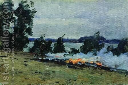 Fires by Isaak Ilyich Levitan - Reproduction Oil Painting