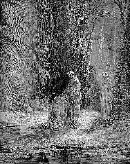 Sordello and Virgil by Gustave Dore - Reproduction Oil Painting
