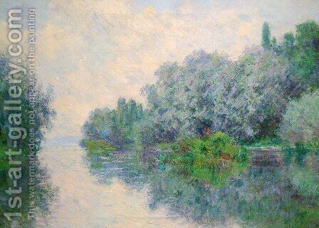 The Seine near Giverny 2 by Claude Oscar Monet - Reproduction Oil Painting