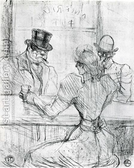 At the Bar Picton, Rue Scribe by Toulouse-Lautrec - Reproduction Oil Painting