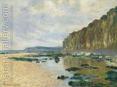 Low Tide at Varengeville by Claude Oscar Monet - Reproduction Oil Painting