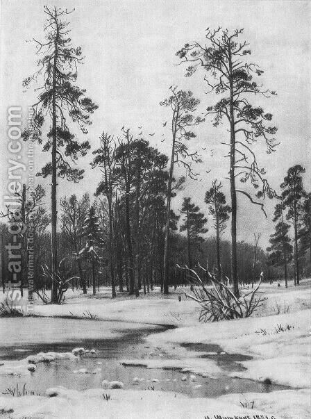 Thaw by Ivan Shishkin - Reproduction Oil Painting