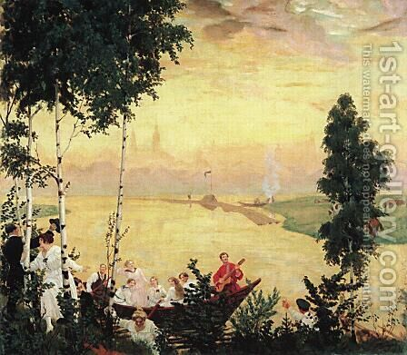 Country journey by Boris Kustodiev - Reproduction Oil Painting