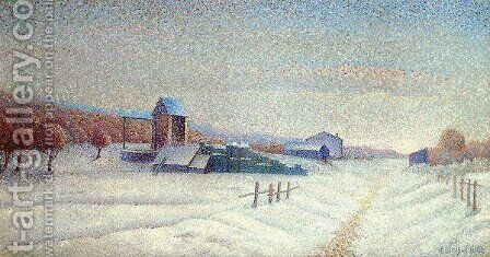 Winter Landscape by Albert Dubois-Pillet - Reproduction Oil Painting