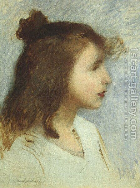 Sketch of a Young Girl by Henri Martin - Reproduction Oil Painting