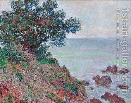 Mediteranian Coast, Grey Day by Claude Oscar Monet - Reproduction Oil Painting