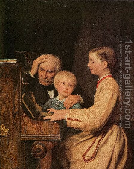 Die Verbannten by Albert Anker - Reproduction Oil Painting