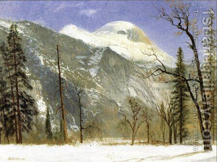 Winter in Yosemite Valley by Albert Bierstadt - Reproduction Oil Painting