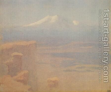 Elbrus by Arkhip Ivanovich Kuindzhi - Reproduction Oil Painting