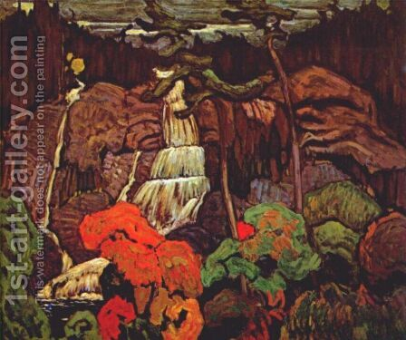 Algoma Waterfall by James Edward Hervey MacDonald - Reproduction Oil Painting