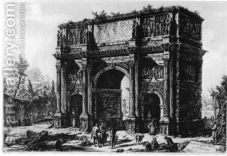 Vedute di Roma 114 by Giovanni Battista Piranesi - Reproduction Oil Painting