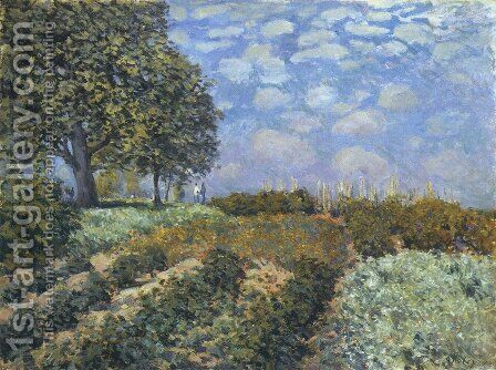 The Fields by Alfred Sisley - Reproduction Oil Painting
