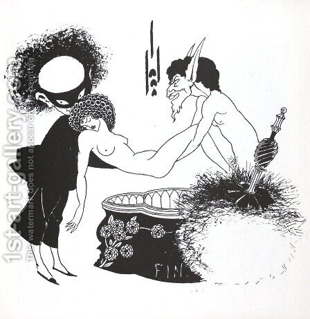 Creation by Aubrey Vincent Beardsley - Reproduction Oil Painting