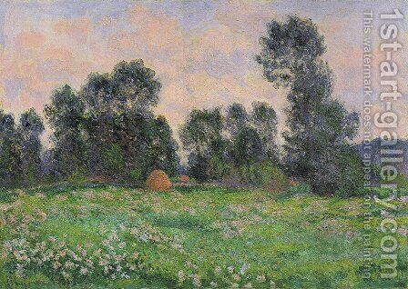 Meadow in Giverny by Claude Oscar Monet - Reproduction Oil Painting