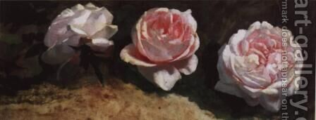 Peonies by Isaak Ilyich Levitan - Reproduction Oil Painting