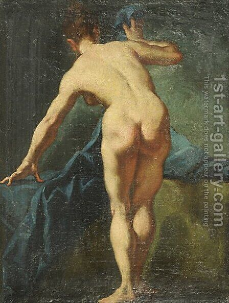 Nudo femminile by Giulia Lama - Reproduction Oil Painting