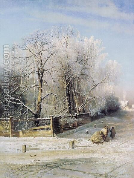 Winter landscape. Moscow by Alexei Kondratyevich Savrasov - Reproduction Oil Painting