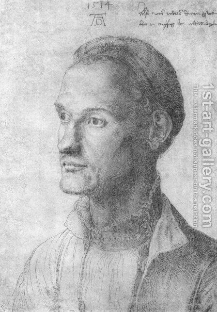 Portrait of Durer Endres, brother of the painter by Albrecht Durer - Reproduction Oil Painting