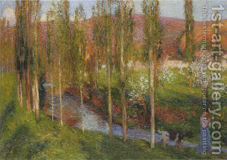 Valle du Vert with Shepherdess by Henri Martin - Reproduction Oil Painting