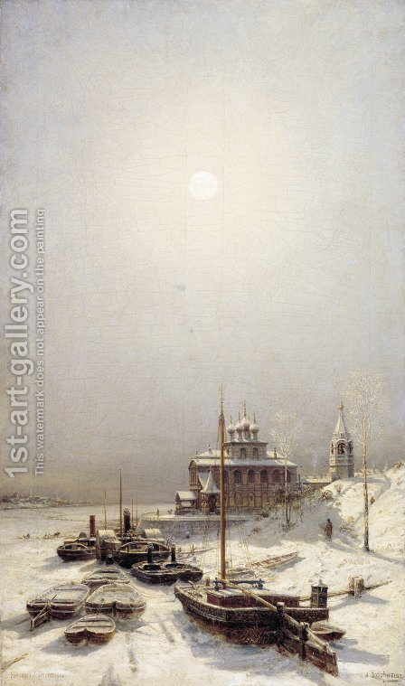 Winter in Borisoglebsk by Aleksei Petrovich Bogolyubov - Reproduction Oil Painting
