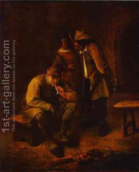 Smoker by Jan Steen - Reproduction Oil Painting