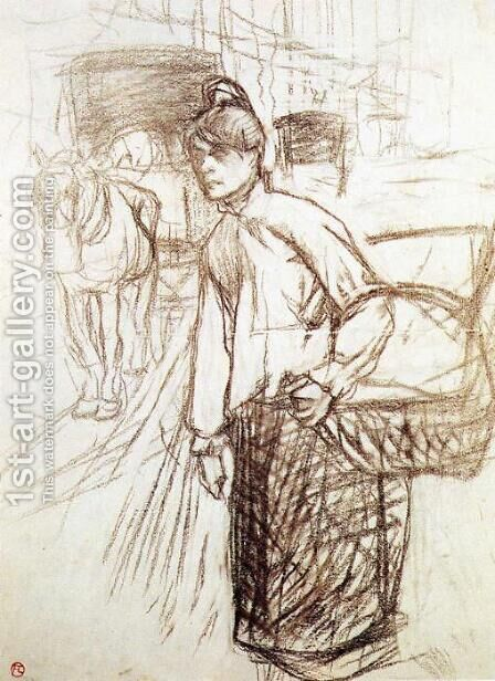 Study for the Laundress by Toulouse-Lautrec - Reproduction Oil Painting