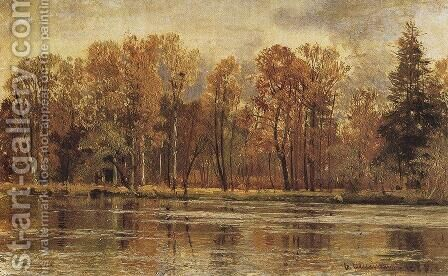 Golden autumn by Ivan Shishkin - Reproduction Oil Painting