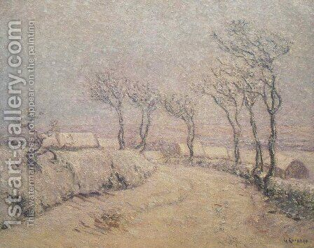 Landscape in Snow 2 by Gustave Loiseau - Reproduction Oil Painting