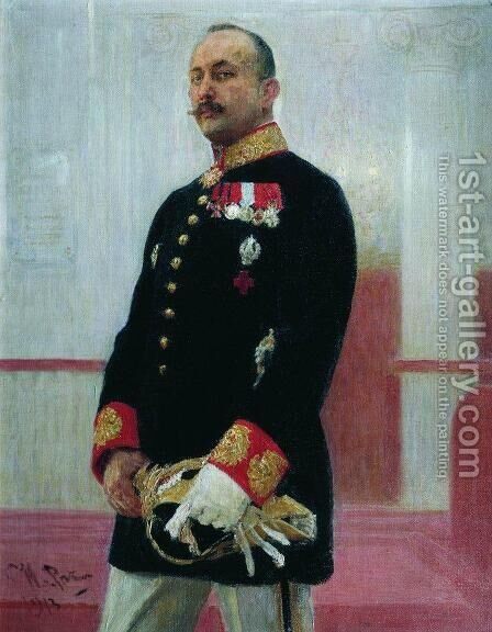 Portrait of V. Gudovich by Ilya Efimovich Efimovich Repin - Reproduction Oil Painting