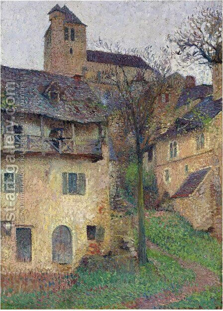 Amount Verg The Church of Saint Cirq Lapopie by Henri Martin - Reproduction Oil Painting