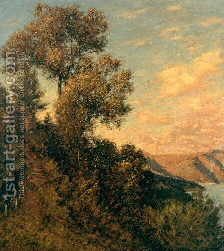 A Ligurian Gulf by Henry Herbert La Thangue - Reproduction Oil Painting