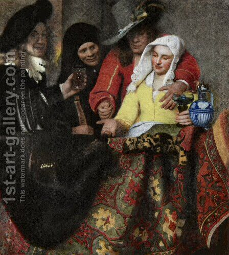 The Procuress by Jan Vermeer Van Delft - Reproduction Oil Painting