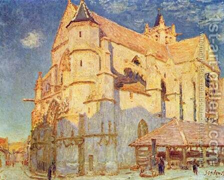 Church of Moret 2 by Alfred Sisley - Reproduction Oil Painting
