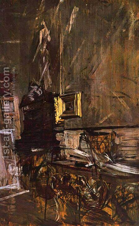 The Golden Frame by Giovanni Boldini - Reproduction Oil Painting