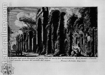 The Roman antiquities, t. 1, Plate XXIV. Nero's aqueduct. by Giovanni Battista Piranesi - Reproduction Oil Painting