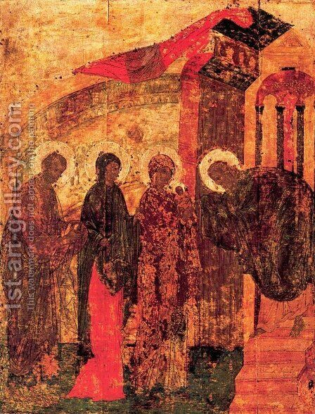 Presentation of Jesus at the Temple 2 by Andrei Rublev - Reproduction Oil Painting