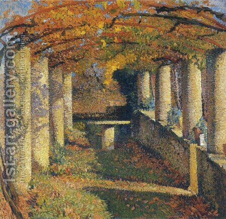 The Pergola in Marquayrol 3 by Henri Martin - Reproduction Oil Painting