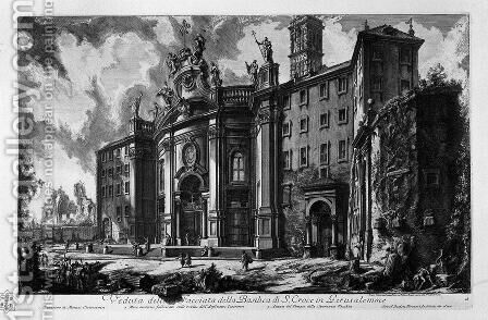 View of the facade of the Basilica of St. Maria Maggiore by Giovanni Battista Piranesi - Reproduction Oil Painting