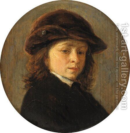 Portrait of a Boy by Adriaen Jansz. Van Ostade - Reproduction Oil Painting
