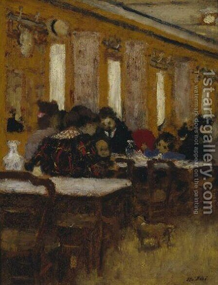 The Little Restaurant by Edouard  (Jean-Edouard) Vuillard - Reproduction Oil Painting