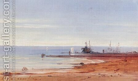 Sea by Alexei Kondratyevich Savrasov - Reproduction Oil Painting