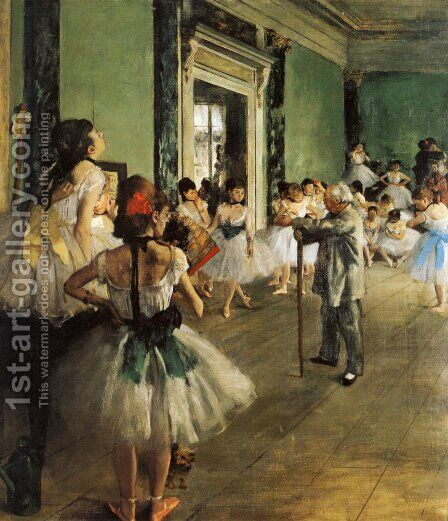 The Ballet Class by Edgar Degas - Reproduction Oil Painting