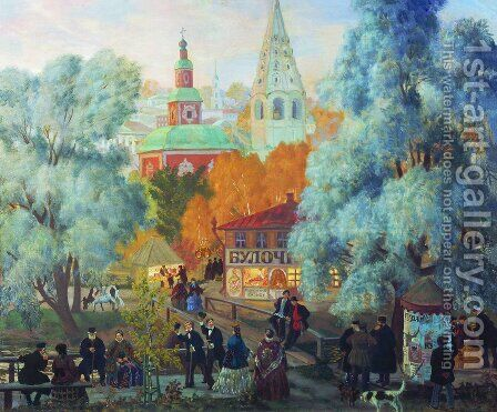 Province 2 by Boris Kustodiev - Reproduction Oil Painting