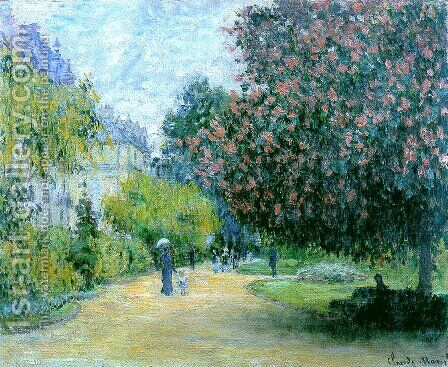 Park Monceau by Claude Oscar Monet - Reproduction Oil Painting
