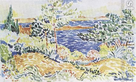 Lavender by Henri Edmond Cross - Reproduction Oil Painting
